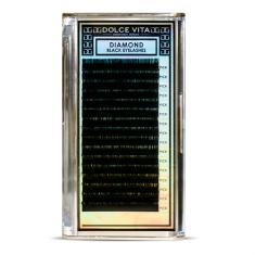 Dolce Vita, Ресницы в ленте Diamond Black Deluxe 0.15 C кукольный изгиб mix