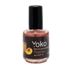 Yoko, Масло для кутикулы «Персик», 15 мл