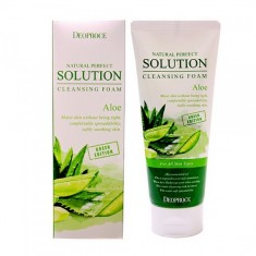 пенка для умывания алое deoproce natural solution cleansing foam green aloe