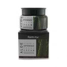 увлажняющий крем для лица с экстрактом алоэ farmstay visible difference fresh cream (aloe)