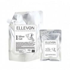 альгинатная маска премиум с серебром ellevon silver premium modeling mask