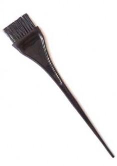 DEWAL PROFESSIONAL Кисть для окрашивания узкая черная, с черной волнистой щетиной 40 мм