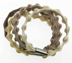 DEWAL BEAUTY Резинки для волос midi рифленые, цветные 8 шт