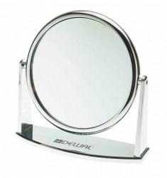 DEWAL PROFESSIONAL Зеркало настольное, пластик, серебристое 18х18,5 см