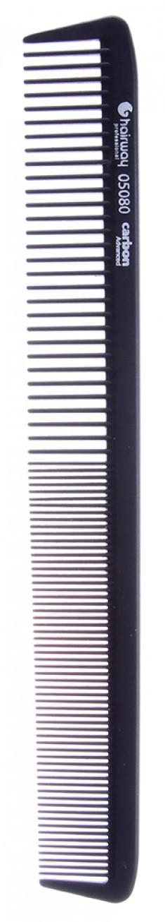 HAIRWAY Расческа Carbon Advance комбинированная 220 мм