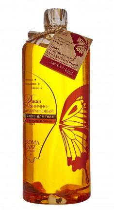 AROMA JAZZ Масло массажное жидкое для тела Землянично-мандариновый джаз 1000 мл
