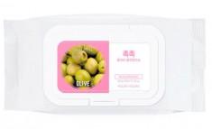 HOLIKA HOLIKA Салфетки очищающие с оливой для удаления макияжа Дэйли Фреш / Daily Fresh Olive Cleansing Tissue 60 шт