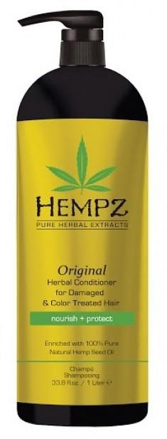 HEMPZ Кондиционер растительный оригинальный для поврежденных окрашенных волос 1000 мл