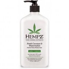 HEMPZ Молочко увлажняющее для тела, кокос и арбуз / Fresh Coconut & Watermelon Herbal Moisturizer 500 мл