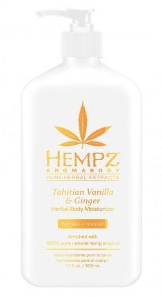 HEMPZ Молочко увлажняющее для тела, имбирь и ваниль Таити / Tahitian Vanilla & Ginger Moisturizer 500 мл