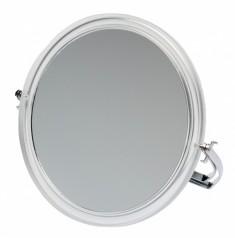 DEWAL BEAUTY Зеркало настольное, в прозрачной оправе, на металлической подставке 165x163х10 мм