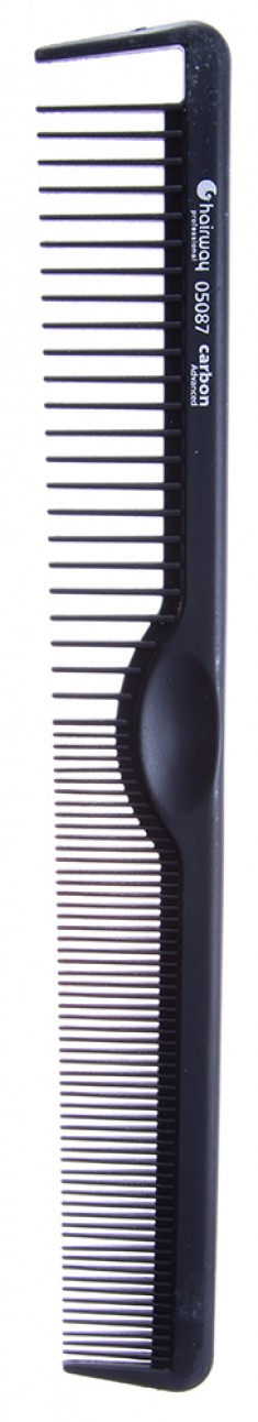 HAIRWAY Расческа Carbon Advance комбинированная 210 мм