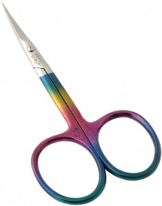SILVER STAR Ножницы для кутикулы, цветное радужное покрытие / CLASSIC