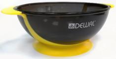 DEWAL PROFESSIONAL Чаша для краски с двумя ручками, с прорезиненной вставкой (желтая) 300 мл
