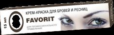 FARMAVITA Краска для бровей и ресниц, иссиня-черный / FAVORIT 15 мл
