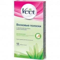 Veet полоски восковые для депиляции для cухой кожи N12
