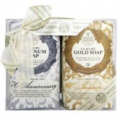 Нести Данте мыло набор Anniversary Platinum&Gold Юбилейное платина 250г+Юбилейное золотое 250г NESTI DANTE