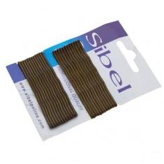 Sibel Невидимки фигурные волнистые 70мм коричневые 24шт