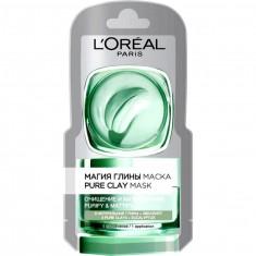 Loreal Маска для лица Магия глины Очищение и матирование 3 натуральные глины+эвкалипт 6мл Loreal Paris