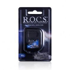 Рокс/Rocs Расширяющаяся зубная нить Black Edition, 40 м
