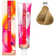 Wella Color Touch Тонирующая крем-краска без аммиака 8/0 светлый блонд 60мл