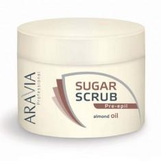 Aravia Сахарный скраб с маслом миндаля 300мл Aravia professional