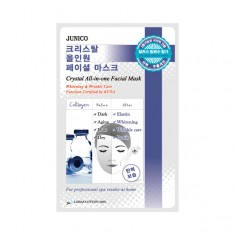 маска тканевая c коллагеном mijin junico crystal all-in-one facial mask collagen