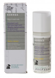 KORRES Дезодорант антиперспирант 48 часов с экстрактом хвоща, без запаха 30 мл