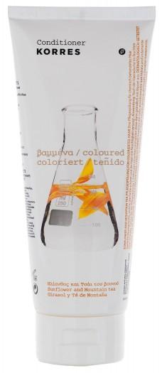 KORRES Кондиционер для окрашенных волос, подсолнух и гаультерия 200 мл