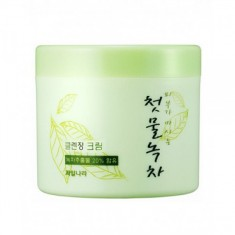 крем очищающий welcos green tea fresh cleansing cream