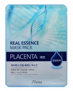 Тканевая маска с плацентой JUNO Real essence mask pack placenta 25 мл