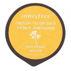 Маска капсульная для лица с экстрактом рапсового меда INNISFREE Сapsule Recipe Pack Canola Honey