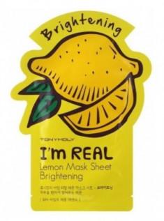 Маска с экстрактом лимона TONY MOLY I'm Real Lemon Mask Sheet 21 мл
