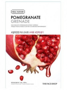 Маска с экстратом граната THE FACE SHOP Real Nature Mask Sheet Pomegranate 20мл