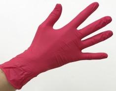 SAFE & CARE Перчатки нитриловые, красные, размер М / Safe & Care 100 шт ЧИСТОВЬЕ
