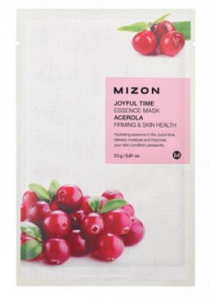 Тканевая маска с ацеролой MIZON Joyful time essence mask acerola 23г