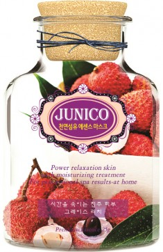 маска тканевая c экстрактом личи mijin junico lychee essence mask