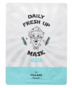 Маска с экстрактом чайного дерева VILLAGE 11 FACTORY Daily Fresh up Mask Tea Tree 20г