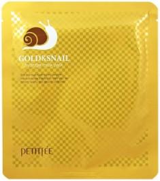 Маска гидрогелевая с золотом и улиточным муцином PETITFEE Gold & Snail Mask Pack