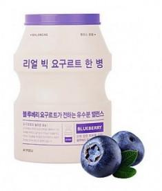 Тканевая маска йогуртовая с голубикой A'PIEU Real Big Yogurt One-Bottle Blueberry