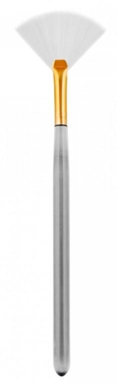 IGROBEAUTY Кисть веерная, искусственная малая, белая щетина, длина 160 мм