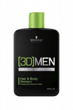 Шампунь для волос и тела Schwarzkopf Professional, [3D]MEN Hair&Body Shampoo 250 мл