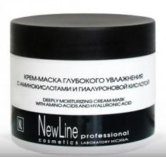 Крем-маска глубокого увлажнения с аминокислотами и гиалуроновой кислотой NEW LINE 300мл