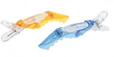 DEWAL PROFESSIONAL Зажим для волос Крокодил цветной прозрачный, пластик 11 см 2 шт/уп