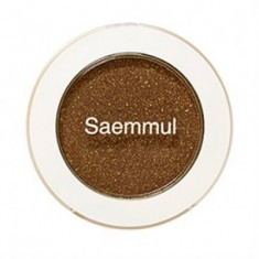 Тени для век мерцающие THE SAEM Saemmul Single Shadow Shimmer BR14 TMI Brown 2гр