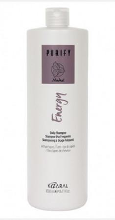 Шампунь интенсивный энергетический с ментолом Kaaral Purify-Energy Shampoo 1000мл
