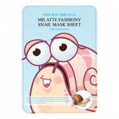 Маска для лица тканевая улиточная MILATTE FASHIONY SNAIL MASK SHEET 21гр