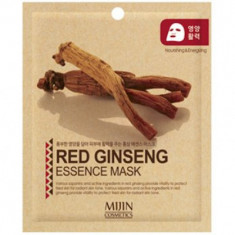 Маска для лица тканевая красный женьшень Mijin RED GINSENG ESSENCE MASK 25г
