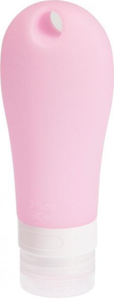 DEWAL BEAUTY Баночка дорожная для путешествий, розовая с отверстием 90 мл