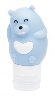 DEWAL BEAUTY Баночка дорожная для путешествий Медведь, цвет синий 80 мл